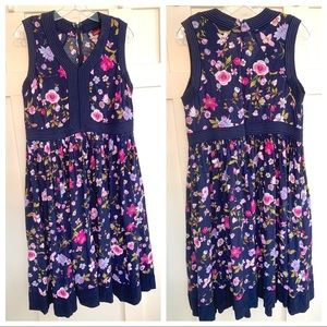 Jessica London Navy Floral Midi Dress EUC 14